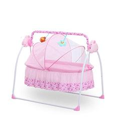 Automatic Rocking Crib Electric Baby Swing Cradle Bed with D