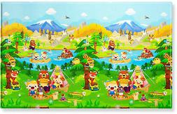 BABY CARE Large Baby Play Mat in Let's Go Camping
