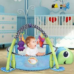 Baby Cute Fitness Playing Mat Lay Toddler Kids Activity Gym