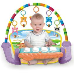 Baby Gym Play Mat Lay & Play 3 in 1 Fitness Music Fun Piano