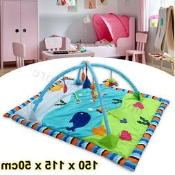 Baby Infant Gym Play Mat Indoor Floor Crawl Soft Blanket Mat