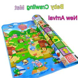 Baby Kid Toddler Crawl Play Game Picnic Carpet Animal Letter