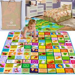 Baby Kids Play Mat Foam Activity Crawling Creeping Blanket F