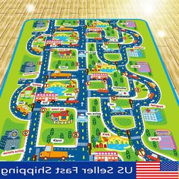 Baby Kids Toddler Play Mat Crawling Blanket Game Carpet Car