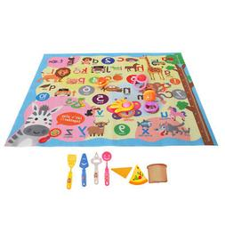 Baby Play Mat Crawl Blanket Activity Game Rug Number Alphabe