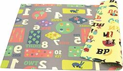 Baby Play Mat Foam Alphabet Floor Gym - Reversible, Letters