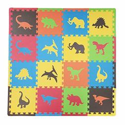 Baby Play Mat Foam Floor Dino Puzzle Activity Gym Toy 16PCS