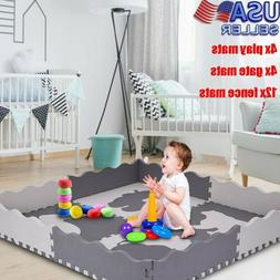 Baby Play Mat - Large Foam Interlocking Floor Tiles Extra Th