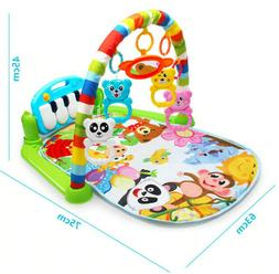 Baby Play Mat Rug Toys Kids Crawling Music Play Game With Pi