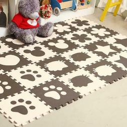 Baby Play Mat Soft EVA Foam Puzzle Kids Rug Animal Pattern C