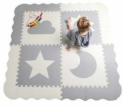 "Baby Play Mat Tiles - 60"" x 60"" Extra Large, Non Toxic Foam"