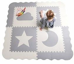 "Baby Play Mat Tiles  61"" x Extra Large Non Toxic Thick Floor"