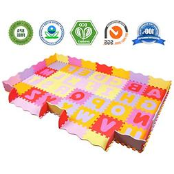 AIMERDAY Baby Play Mat with Fence, 7.7'x4.8' Extra Large Non