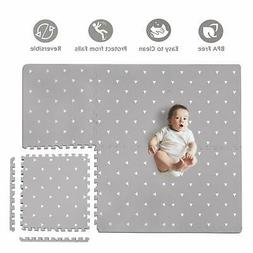 Baby Play Mat with Fence - Extra Large 4FT x 6FT Non Toxic F