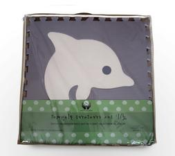 Baby Play Mat With Fence Foam Premium lil sea creatures Gray
