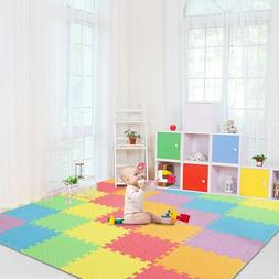 Large Baby Play Mat Interlocking Foam Pad Floor Tiles Safe C
