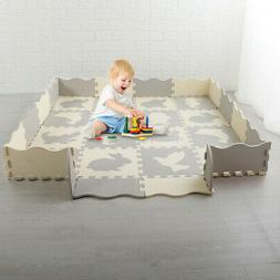 Baby Non-Toxic Crawling Play Mat Kids Toddlers Extra Thick F