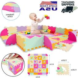 For Baby Play Mat with Fence Interlocking Foam Floor Tiles C