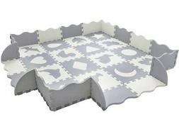 baby play mat with fence thick 0