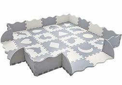 Baby Play Mat with Fence  Superjare Thick  Interlocking Foam