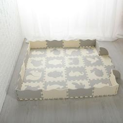 Baby Play Mat with Fence Thick  Foam Floor Tiles Foam Baby K