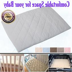 Baby Quilted Silky Soft Mattress Pads Play Crib Comfortable