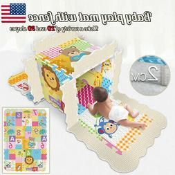 Baby Soft EVA Foam Play Mat With Fence Puzzle DIY Toy Floor