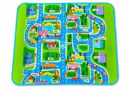 BABY Toddler Playpen Mat Play Mat in/out doors Car Track des