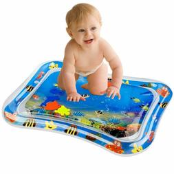 Baby Water Mat Tummy Time Inflatable Play Mat Newborn Fun Pl