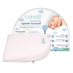 Starkio Bassinet Wedge Pillow. Gentle 12 Degree Incline for