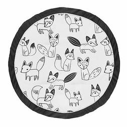 Black and White Fox Playmat Tummy Time Baby and Infant Play