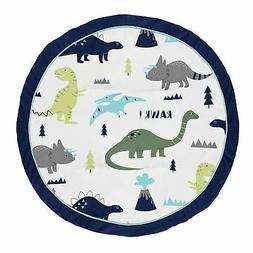 Sweet Jojo Designs Blue and Green Dino Playmat Tummy Time Ba