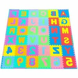 BRANDNEW Kids Puzzle Alphabet, Numbers, 36 Tiles and Edges P