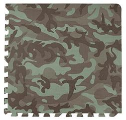 Tadpoles 4 Piece Camouflage Print Green Playmat Set