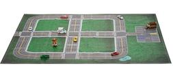 "Car Play mat & parking lot ""My Home Town"" For Hot Wheels Mat"