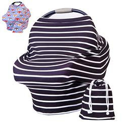 Premium Baby Car Seat Canopy - Multi Use Breastfeeding Cover