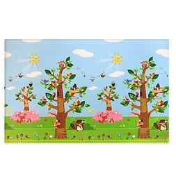BABY CARE? Large Baby Play Mat in Birds in Trees