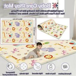 Cartoon Floor Play Mat Rug Child Infant Baby Kids Crawling G
