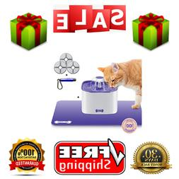 Cat Drinking Water Fountain with FREE Filter & FREE Silicone