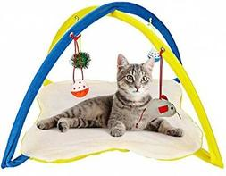 Animals Favorite Cat Play Mat, Cat Tent Activity Center with