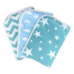 Premium Changing Pad Liner | Bed pad | Play Mat | 3 Pack | W