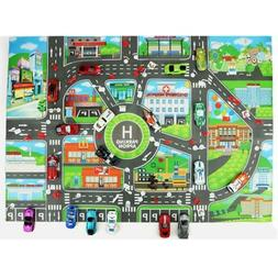 children city road play mat car road