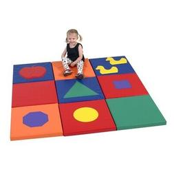 Children's Factory Shape and Play Sensory Mat Squares