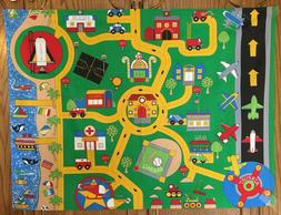 Childs Floor Play Mat Streets - Roads Matchbox Cars Airplane