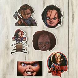 Chucky Matte Halloween Pack of 6 Stickers Child's Play 2.5