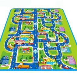 Kids Baby City Playmat Fun Town Cars Play Road Carpet Rug PE