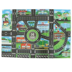 City Traffic Car Game Play Mat Rug Carpet Toy - Infant Kids