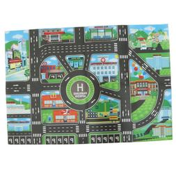 City Traffic Road Play Mat for Car Train Toy Baby Kid Crawli