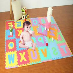 Colorful 36 Pcs EVA Floor Play Mat Alphabet Numbers Baby Roo