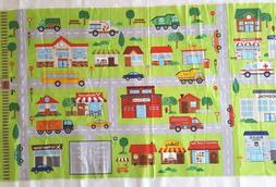 Northcott Connector Play Mat AROUND THE TOWN Panel Cotton *D
